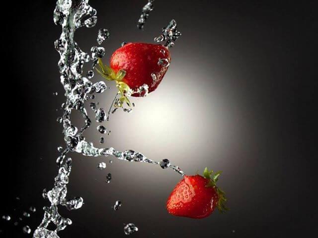 νερό φράουλας