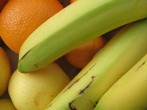 φρούτα με τις χαμηλότερες θερμίδες μπανανα