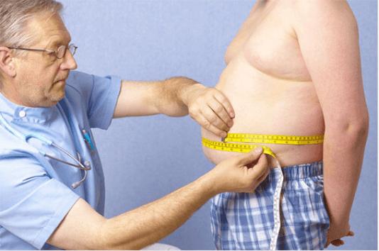 Στιγμιαίες σούπες - Γιατρός μετρά την κοιλιά ασθενή