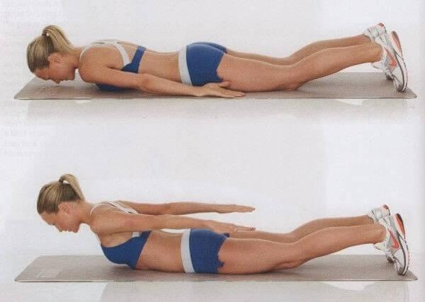 ασκήσεις για τα παχάκια της πλάτης