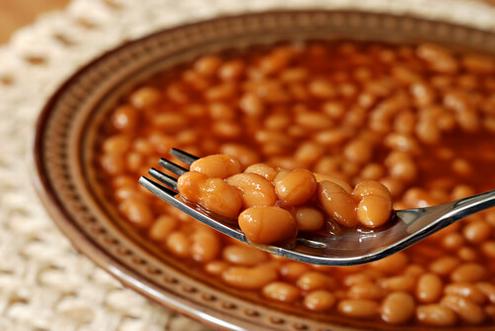Φασόλια σε πιάτο