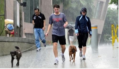 Καθημερινή καύση του λίπους - Περπάτημα στη βροχή