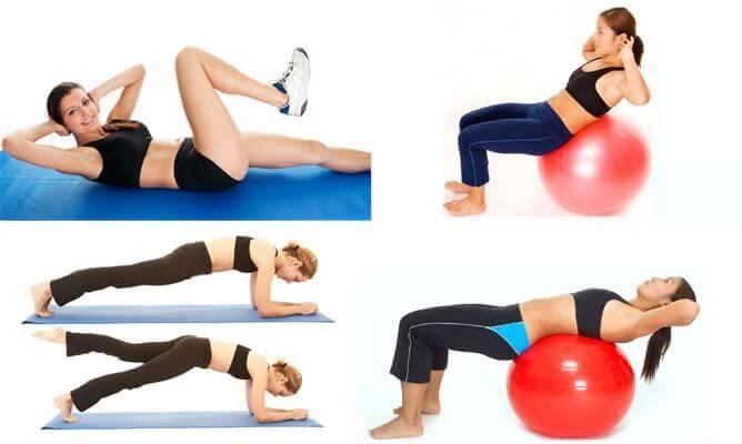 Ασκήσεις για πιο λεπτή μέση - Γυναίκα κάνει διάφορες ασκήσεις για τη μέση