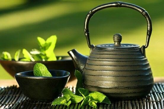 φυσικά ροφήματα με πράσινο τσάι