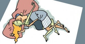 στάση ύπνου- αγκαλια
