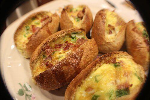 Πώς να χάσετε βάρος το πρωί - Πατάτες γεμιστές στο φούρνο