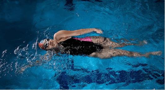 Πρήξιμο των ποδιών - Γυναίκα κολυμπά