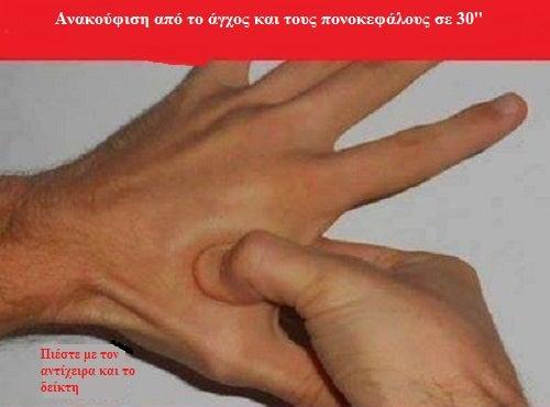 Διανοητική κόπωση - Πίεση σημείων χεριού