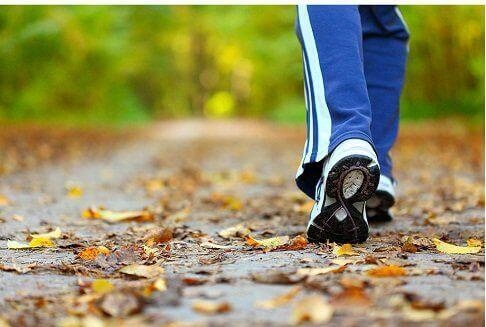 Άτομο περπατά στη φύση