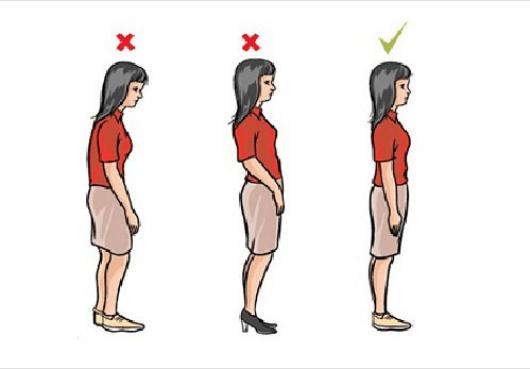 Αισθανόμαστε πόνους στην πλάτη - Σωστή στάση του σώματος