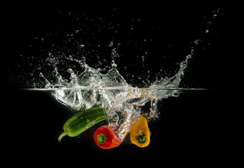 πλύσιμο των λαχανικών