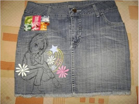 Παλιά τζιν - Μίνι φούστα