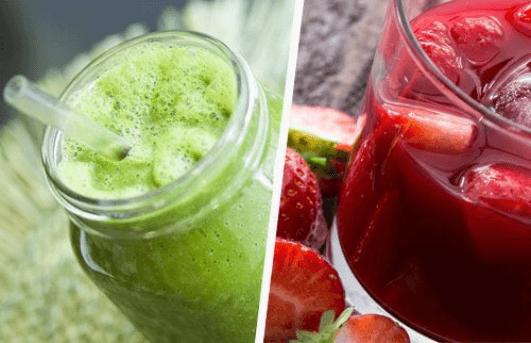 Μη υγιές παχύ έντερο - Χυμοί φρούτων σε ποτήρι