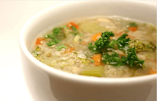 σουπα λαχανικων - τροφές που εξαλείφουν τη βλέννα