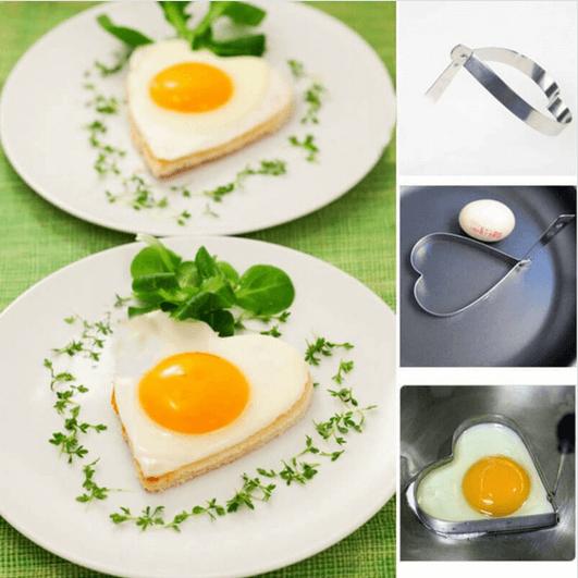 αβγά σε σχήμα καρδιάς με φόρμα