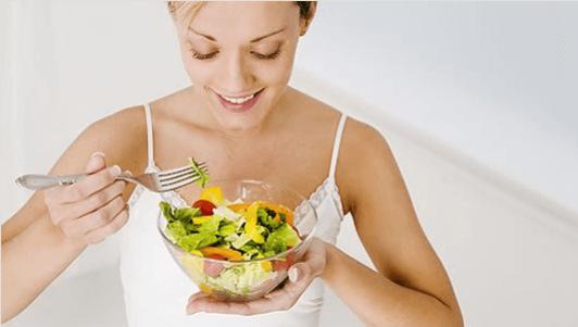 μετά τη δίαιτα και σαλατα
