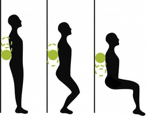 Ασκήσεις για τον πόνο στο γόνατο - Βαθιά καθίσματα