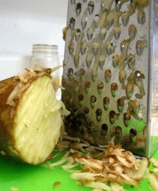 κόλπα καθαρισμού - τρίφτης τυριού