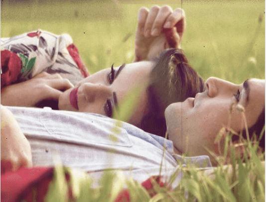 Τέλεια σχέση - Ζευγάρι ξαπλωμένο στο γρασίδι