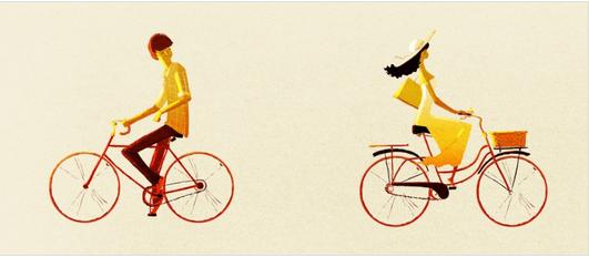 Δεν χρειάζεται να δίνετε εξηγήσεις - Δύο άνθρωποι κάνουν ποδήλατο σε αντίθετη κατεύθυνση