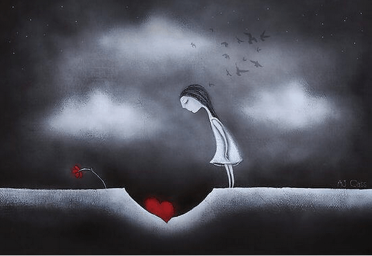 Συναισθηματική ωριμότητα - Γυναίκα κοιτά μια καρδιά