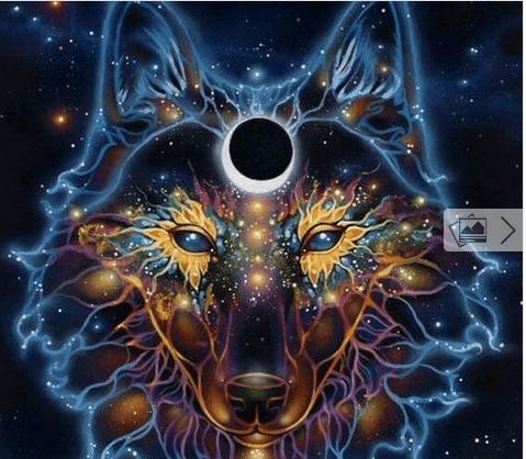 Λύκος και φεγγάρι