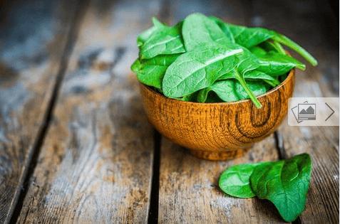 σπανάκι - αλκαλικές τροφές