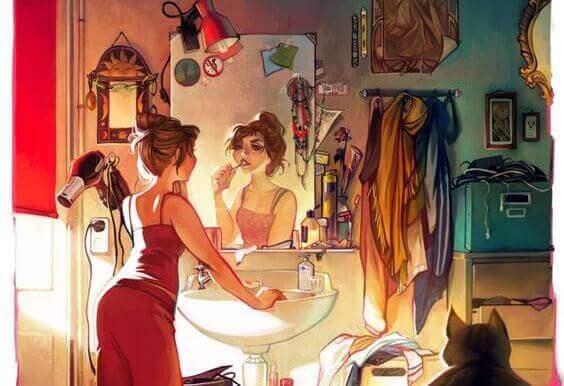 Γνωρίζετε ποιοι είστε - Γυναίκα κοιτά τον καθρέφτη