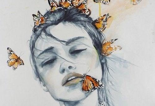 Εσωτερική διεργασία - Γυναίκα και πεταλούδες