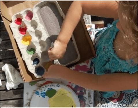 Χάρτινες αβγοθήκες - Παλέτα χρωμάτων από αβγοθήκη