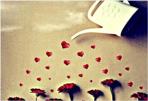 Εκφράζετε καθημερινά την αγάπη σας - Καρδιές, λουλούδια και ποτιστήρι