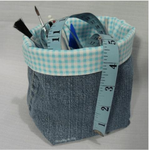 νέες χρήσεις για τα παλιά παντελόνια τζιν σας - οργάνωση