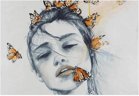 Εκφράζετε καθημερινά την αγάπη σας - Γυναίκα και πεταλούδες