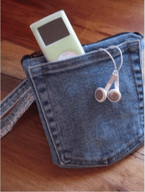 νέες χρήσεις για τα παλιά παντελόνια τζιν σας - τσαντάκι