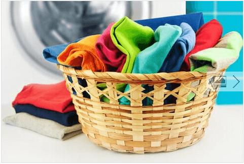 Σπιτικό μαλακτικό ρούχων - Ρούχα σε καλάθι