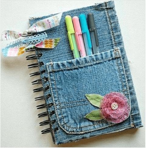νέες χρήσεις για τα παλιά παντελόνια τζιν σας - σημειωματάριο