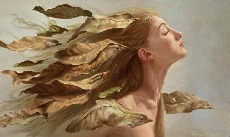 Τοξικές φράσεις στον εσωτερικό διάλογό μας - Γυναίκα με πουλιά στα μαλλιά
