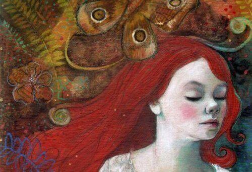 Γυναίκα με κόκκινα μαλλιά