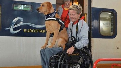 Η Marieke Vervoort με τον σκύλο της