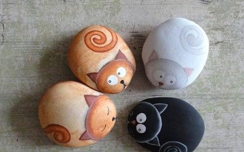 ζωγραφική σε πέτρες - ζώα