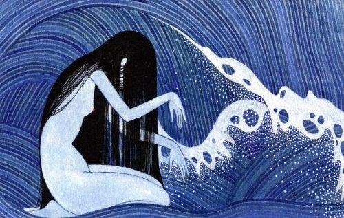 Συναισθηματική ισορροπία - Γυναίκα και κύματα
