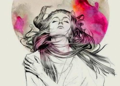 Ψάχνετε στο υποσυνείδητο - Γυναίκα γέρνει το κεφάλι προς τα πίσω