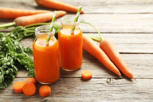 καρότα και χυμός, αρνητικές θερμίδες