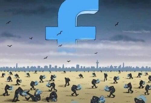 Άνθρωποι προσκολλημένοι στο Facebook