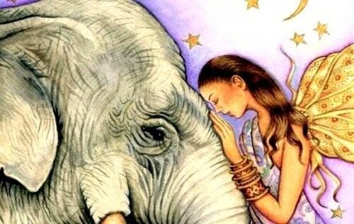 Νεράιδα και ελέφαντας