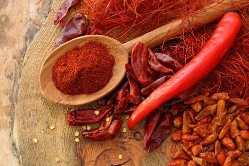 Ενεργοποιήστε έναν θυρεοειδή - Πιπεριές και πιπέρι καγιέν
