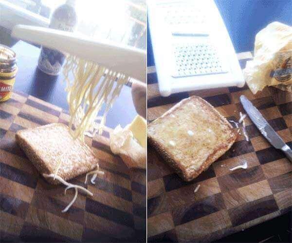 δουλειές του σπιτιού: - τρίψιμο βουτύρου
