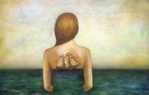 Θάλασσα αυτογνωσίας εξαρτημένοι άνθρωποι