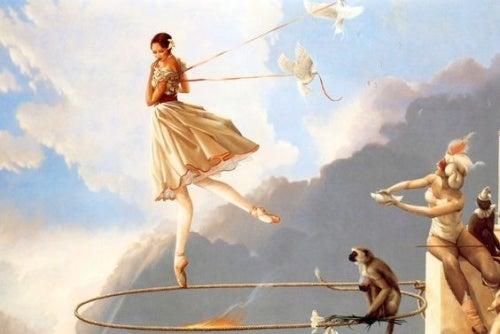 Γυναίκα πετά