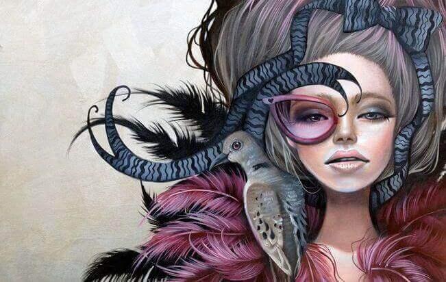 ζωγραφιά γυναίκας και πουλί στα μαλλιά κριτική για τους άλλους